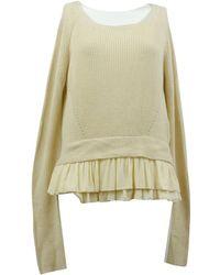 Maje - Ecru Linen Knitwear - Lyst