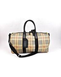 Burberry Black Leather Travel Bag