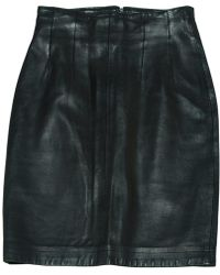 A.P.C. - Black Leather Skirt - Lyst