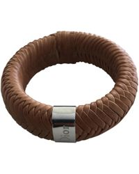 Dior - Pre-owned Leather Bracelet - Lyst