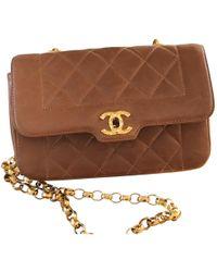 Chanel - Diana Leather Handbag - Lyst