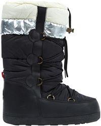 99c6e93bfa3d Lyst - Moncler Black Fanny Boots in Black
