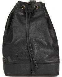 b3ec3ac2080928 Chanel - Vintage Timeless/classique Black Leather Backpacks - Lyst