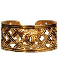 Chanel - Vintage Gold Metal Bracelets - Lyst