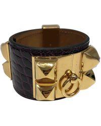 Hermès - Collier De Chien Crocodile Bracelet - Lyst