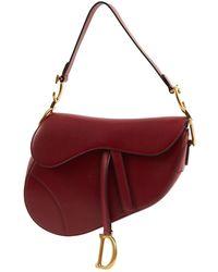 Dior Pre-owned Cloth Handbag in Red - Lyst 62b3dc5df70b2