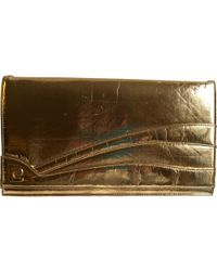 Courreges - Pre-owned Patent Leather Clutch Bag - Lyst