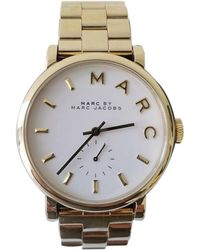Marc By Marc Jacobs - Pre-owned Gold Steel Watches - Lyst