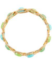 Chanel - Pre-owned Green Metal Bracelet - Lyst