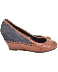 Fendi Brown Cloth Heels