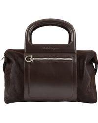 Ferragamo - Pre-owned Brown Pony-style Calfskin Handbags - Lyst