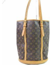 92853ae5c4c8 Lyst - Louis Vuitton Bucket Gm Tote Bag Monogram Canvas M42236 in Brown