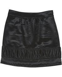 Burberry - Black Wool Skirt - Lyst