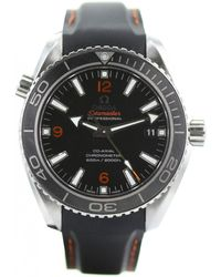 Omega - Pre-owned Seamaster Planet Ocean Black Steel Watches - Lyst