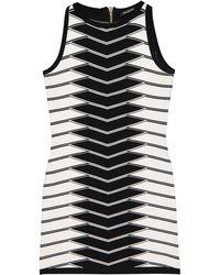 97f0d788 Balmain Cutout Stretch-Jersey Mini Dress in Black - Lyst