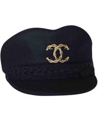 Chanel - Pre-owned Navy Wool Hats - Lyst