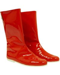 Courreges - Patent Leather Boots - Lyst