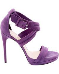 Barbara Bui - Pre-owned Purple Suede Sandals - Lyst