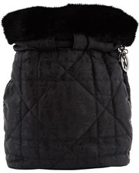 Dior - Pre-owned Vintage Black Cloth Backpacks - Lyst