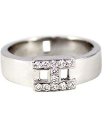 Hermès - White Gold Ring - Lyst