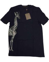 Louis Vuitton - Pre-owned Blue Cotton Knitwear & Sweatshirt - Lyst