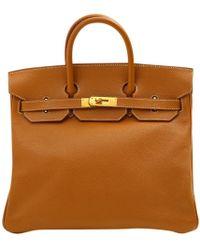 1d7131c302ec Hermès - Pre-owned Vintage Haut À Courroies Gold Leather Handbags - Lyst