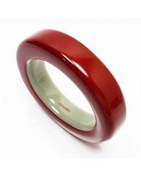 Hermès Pulsera en madera - Rojo