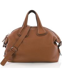 843b85b952 Givenchy - Pre-owned Nightingale Brown Leather Handbags - Lyst