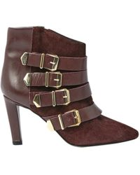 The Kooples - Burgundy Leather Ankle Boot - Lyst