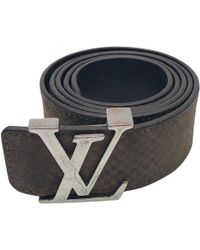 6ed9aa27a31e Louis Vuitton Leather Belt in Brown for Men - Lyst