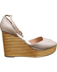Maison Margiela - Leather Court Shoes - Lyst