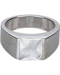 Cartier - Vintage Tank Silver White Gold Ring - Lyst