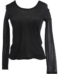 Helmut Lang - Black Cotton Top - Lyst
