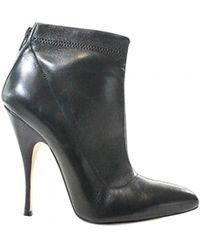 Brian Atwood - Pre-owned Black Leather Ankle Boots - Lyst