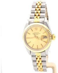 Rolex - Lady Oyster Perpetual 26mm Gold Gold And Steel - Lyst