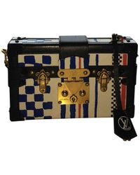 Louis Vuitton - Pre-owned Petit Malle Leather Clutch Bag - Lyst