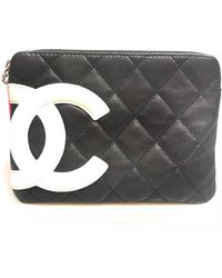 61a6c9409cb6 Chanel 'cambon' Clutch In Khaki Green Quilted Leather in Green - Lyst
