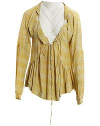 Marni - Pre-owned Yellow Silk Tops - Lyst