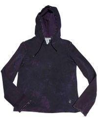 Balmain - Purple Cotton Knitwear - Lyst