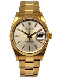 Rolex - Oyster Perpetual 34mm Other Yellow Gold - Lyst