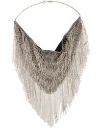 Isabel Marant - Fringed Silver-tone Necklace - Lyst