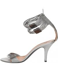 66d0b51e571 Givenchy - Pre-owned Silver Leather Sandals - Lyst
