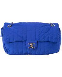 Chanel - Blue Polyester Handbag - Lyst