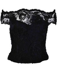 Chanel - Black Lace Top - Lyst
