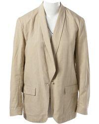 Lanvin - Beige Linen Jacket - Lyst