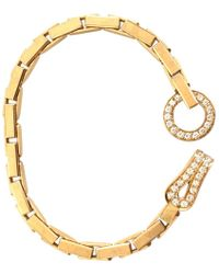 Cartier - Pre-owned Agrafe Yellow Gold Bracelet - Lyst