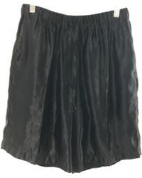 Dries Van Noten - Pre-owned Black Synthetic Shorts - Lyst