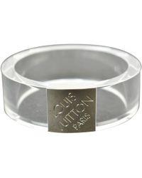 Louis Vuitton - Silver Plastic Bracelet - Lyst