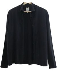 Hermès - Vintage Anthracite Cotton Knitwear - Lyst
