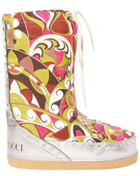 Emilio Pucci - Multicolour Polyester Boots - Lyst